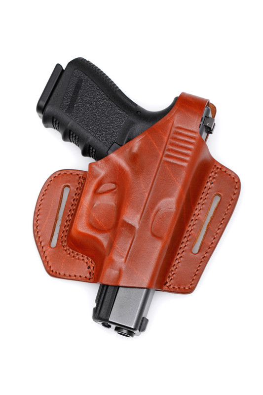 Molded Leather Pancake Holster - Open end