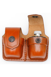 Leather Double Speedloader Case
