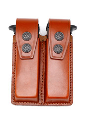 Leather DOUBLE Magazine Case