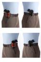 Inside or outside the waist, right side or left side