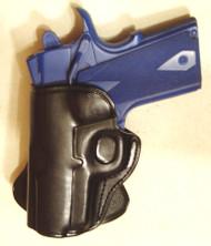 "LEFT Handed Leather PADDLE Holster for COLT / KIMBER 1911 3"" bbl"