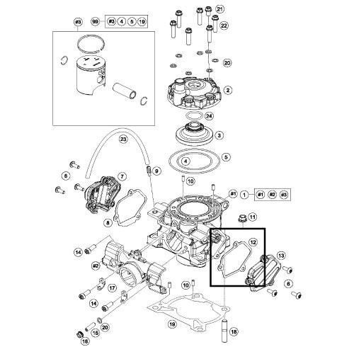Gasket, Powervalve Cover Left Hand Side KTM 85SX Husqvarna