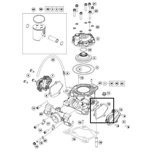 Gasket, Powervalve Cover Left Hand Side KTM 85SX Husqvarna
