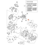 KTM OEM Crankcase Cover Gasket KTM 85SX 2018 HUSQVARNA TC85 2018 47230039000