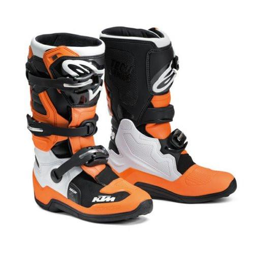 KTM  Official Alpinestars 2021 Kids Boots Tech 7S Black/Orange - Worn by the Judd Orange Brigade Official KTM Factory Youth Team! (KTB)