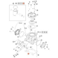 KTM OEM Cylinder Base Gasket 0.75mm 47230035075
