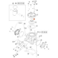 KTM OEM O-RING 23,00X2,5 NBR 70 SH 07702300251