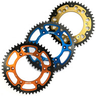 Supersprox Stealth Rear Sprocket KTM 85SX 46-50t (Gold, Orange, Blue)