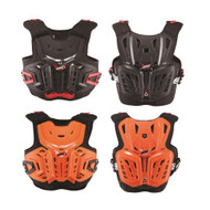 2018 Leatt 4.5 Junior Chest Protector (Black Red, Orange White)