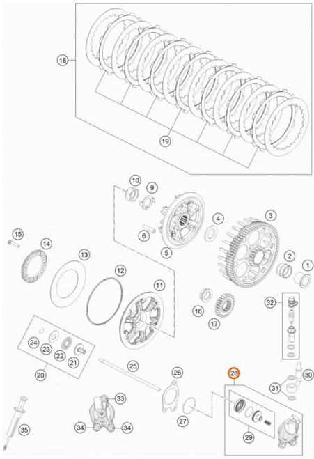 Clutch Slave Cylinder KTM 85SX 2018 >, TC 85 2018