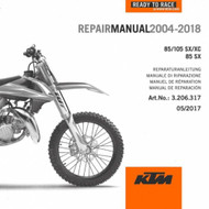 KTM OEM DVD Repair Manual 85/105SX 2004-2018 3206317, 3206272