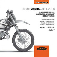 KTM OE DVD Repair Manual 125/150/200/250/300 SX/XC/EXC 2011-18