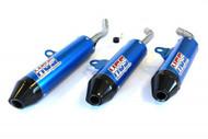HGS Silencer KTM 125 SX 16 - 18 Blue with Carbon End Cap