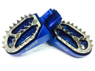 Judd Racing Shark Tooth Foot Pegs Blue KTM, Husqvarna 85, 125, 250, 450