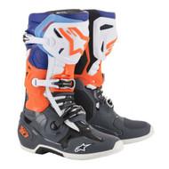 Alpinestar Tech 10 Boot Cool Grey/Orange Fluo/Blue/White A10019904709