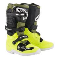 Alpinestars Tech 7S Kids Boot Yellow Fluo/Military Green/Black A15017556107