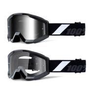 THE STRATA JR Goggles - Goliath - (Mirrored Silver Lens, Clear Lens)