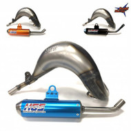 HGS Front Pipe and Silencer in Blue, Orange or Black for KTM SX85 and HUSQVARNA TC85 2018