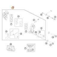 BRAKE CALIPER CPL.FR. 50 LC 02 (45113015000)