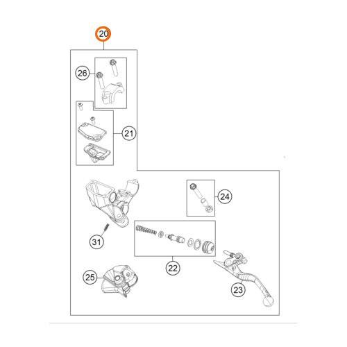 KTM OEM MASTER CYLINDER COMPLETE 10MM (72002030100)