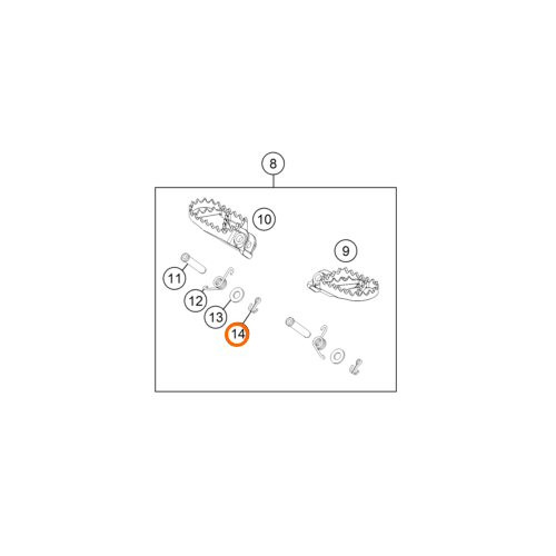FOOTPEG PIN DIN0094-3,2X25 STEEL (0094032253)