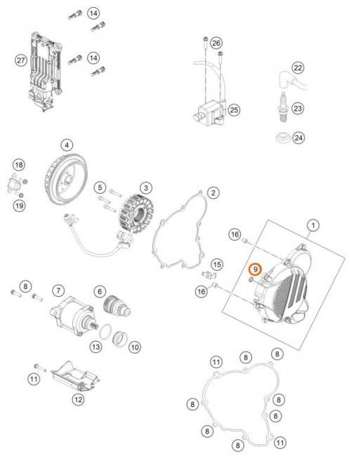 KTM OEM Collar Bushing for Bendix 125-300 XC/EXC 09