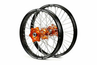 Talon Evo Wheels - Orange Hub, Black Rim