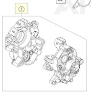 ENGINE CASE CPL. + BEARING (46230000244)