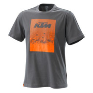KTM Radical Tee Grey - Mens T-Shirt Mens Sizes: XS - 3PW200022501 S - 3PW200022502 M - 3PW200022503 L - 3PW200022504 XL - 3PW200022505 XXL - 3PW200022506