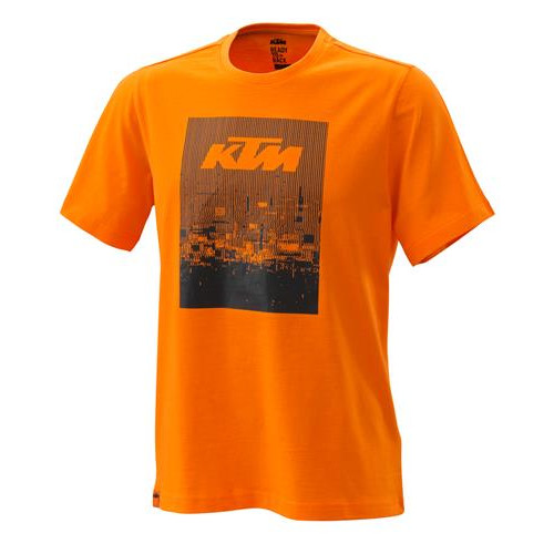 KTM Radical Tee Orange - Front  Mens Sizes: XS - 3PW200022601 S - 3PW200022602 M - 3PW200022603 L - 3PW200022604 XL - 3PW200022605 XXL - 3PW200022606