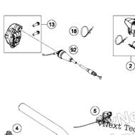 Throttle Control Casing cpl. (50402010044) Part 13 on diagram