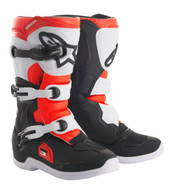 ALPINESTARS TECH 3S YOUTH BOOT BLACK/WHITE/RED FLO (A14018123106)