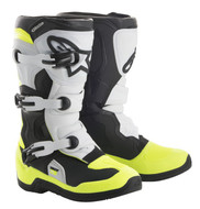 ALPINESTARS TECH 3S YOUTH BOOT BLACK/WHITE/YELLOW FLO (A1401812506)