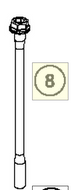 CYLINDERHEAD SCREW M10X168WS14 (75036079000)