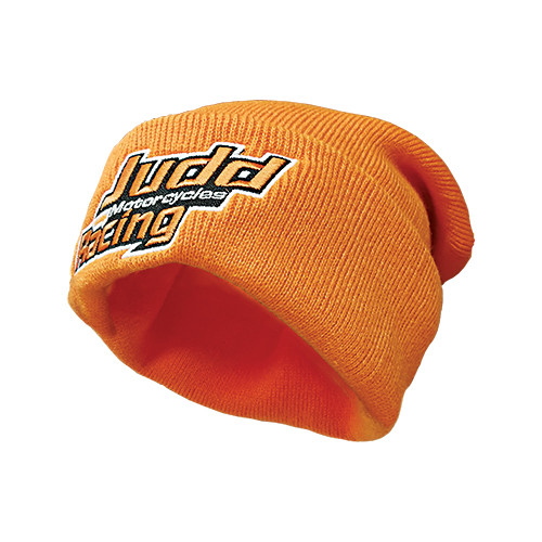 Judd Racing Embroidered Orange Beanie (BEANIE-002)
