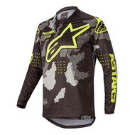 ALPINESTARS 2020 YOUTH RACER TACTICAL JERSEY BLACK/GREY CAMO/YELLOW FLUO (A37712201154M)
