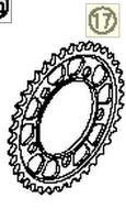 REAR SPROCKET 40-T STEEL 05 | 05 (As required) (61010051140) (61010051140)