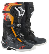 Alpinestar Tech 10 Boot BLACK/GREY/ORANGE/RED FLUO