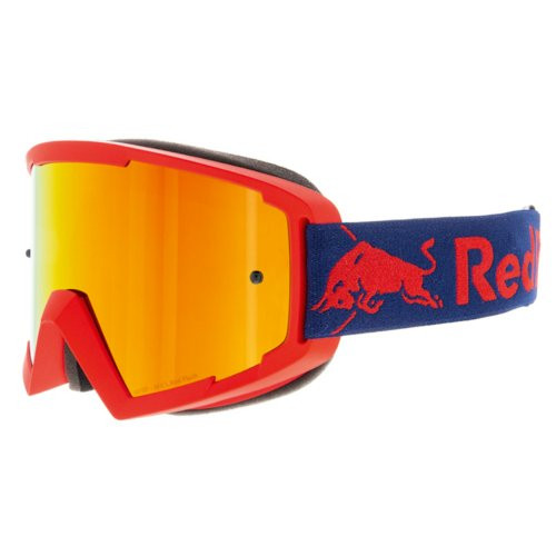 Red Bull Spect WHIP MX Goggles - Matt Red, Blue Red Headband, Red Mirror (WHIP-005) Side view