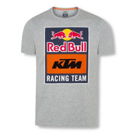 Red Bull KTM Racing Team Emblem Tee Grey - front 3RB200035502 - S, 3RB200035503 - M, 3RB200035504 - L, 3RB200035505 - XL,