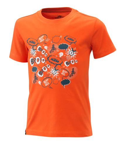 KTM Kids Radical Tee Orange Front (3PW21001600X)