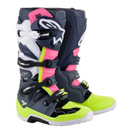 Alpinestars Tech 7 Boots | Grey/Dark Blue/Pink (A12014907609)