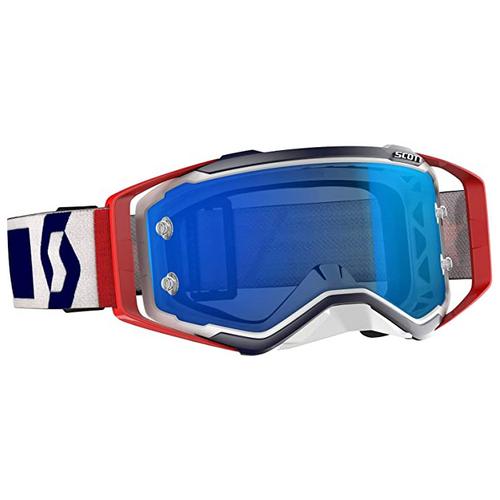 Scott Prospect Motocross Goggles Red/Blue | Electric Blue Chrome Works (SCOTT009)
