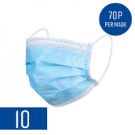 Disposable Protective Face Masks (Pack of 10)
