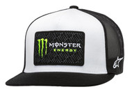 ALPINESTARS MONSTER CHAMP TRUCKER HAT WHITE/BLACK (A1MO9876542010)