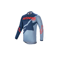 Alpinestars Racer Braap Jersey Dark Blue/Powder Blue/Bright Red (A37614217173X)