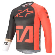 Alpinestars 2021 Youth Racer Compass Jersey Anthracite/Red/Fluo White (A37721211382X)