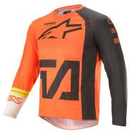 Alpinestars 2021 Youth Racer Compass Jersey Orange/Anthracite/Off White