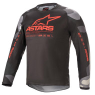 Alpinestars 2021 Youth Racer Tactical Jersey Grey Camo/Red Fluo (A37712219133X