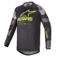 Alpinestars 2021 Youth Racer Tactical Jersey Grey Camo/Yellow Fluo (A37712219155X